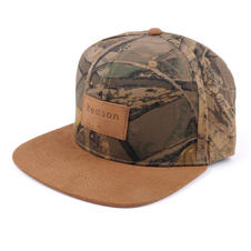6-Panel Trucker Hat Leather Strap