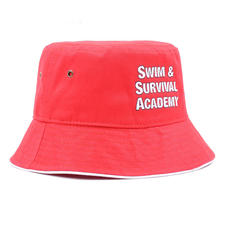 Twill Bucket Cap Red