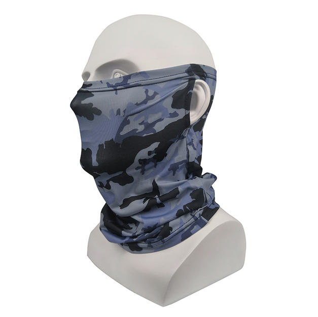 Face Masks Camo Gray and Blue