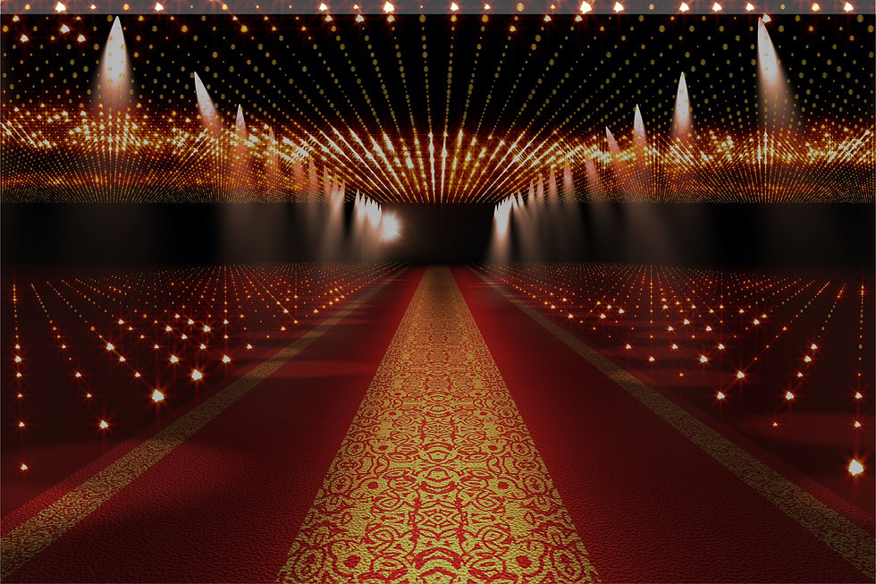 red carpet movie star lights