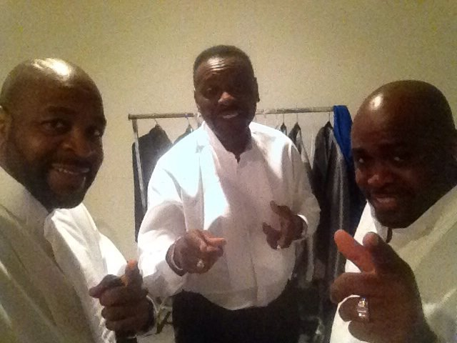 IN THE DRESSING ROOM!