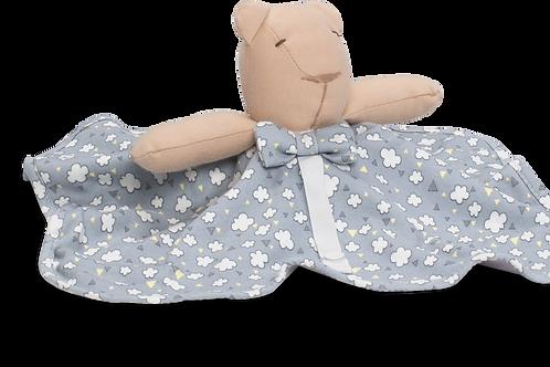 Naninha urso cinza nuvens de algodão