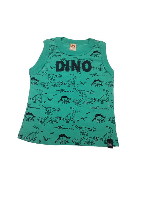 Camiseta regata masculina dinossauro