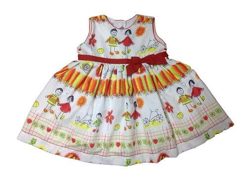 Vestido tecido estampado cerquinha