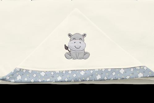 Toalha de banho com capuz nuvens de algodão