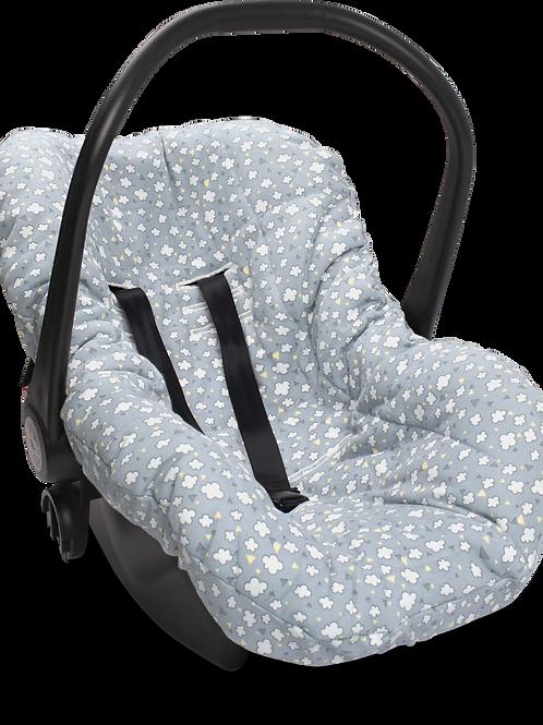 Capa para bebê conforto nuvens de algodão