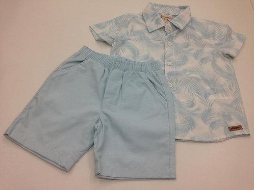 Conjunto  masculino  camisa manga curta estampada