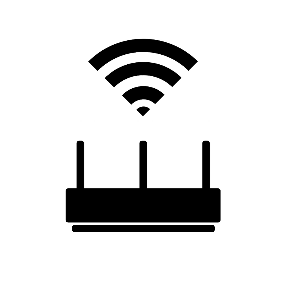 Router with WiFi logo