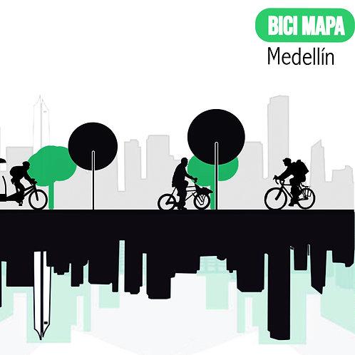 Mapa ciclista de Medellín