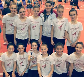 Ottima prova delle ginnaste estensi nel Campionato Regionale UISP