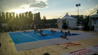 Le ginnaste dell'Estense Putinati alla chiusura del Ferrara Balloons Festival