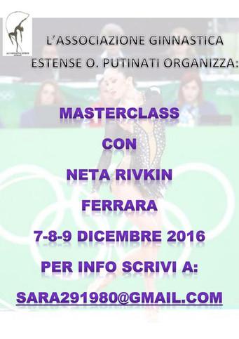 Neta Rivkin a Ferrara per una Masterclass di ginnastica ritmica