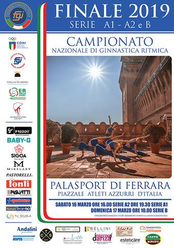 Il 16 e 17 marzo a Ferrara la finale del Campionato Nazionale di ginnastica ritmica