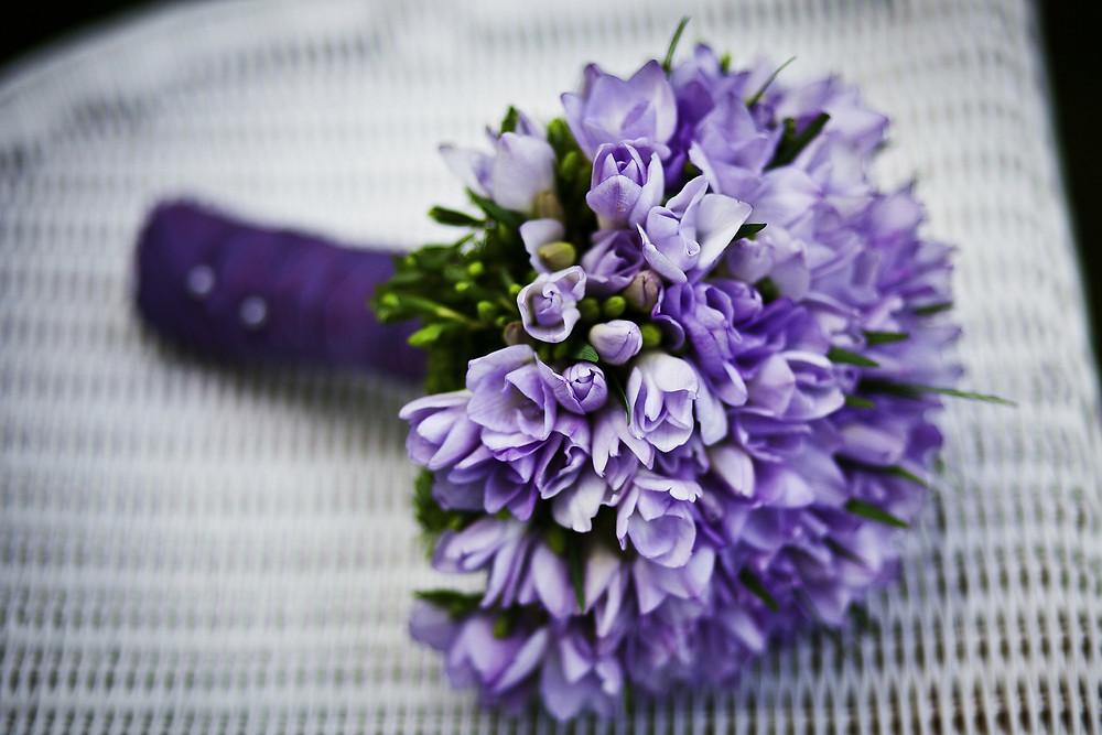 Violet Wedding Bouquet Our Italian Fairytale | Silvia La Perla