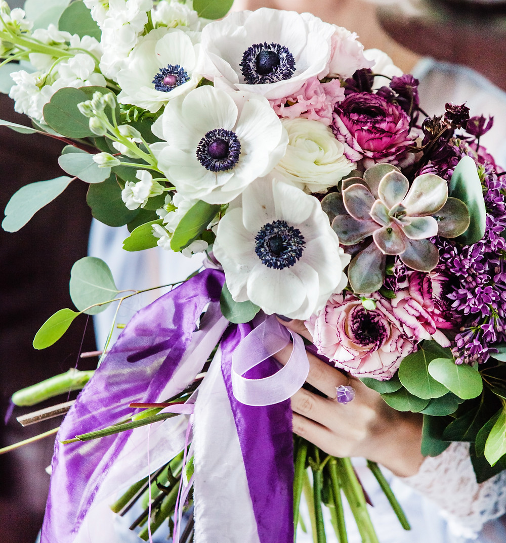 Beautiful Anemone Bouquet-Our Italian Fairytale- Best Wedding Planner For Italy