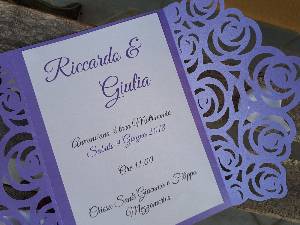 Violet Wedding Invitation | Our Italian Fairytale | Cinzia Wedding and Event Designer