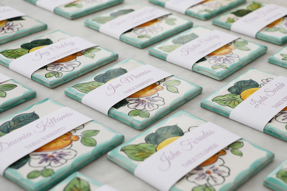 Tile Wedding Favors Our Italian Fairytale | Best Amalfi Coast Destination Wedding Planner