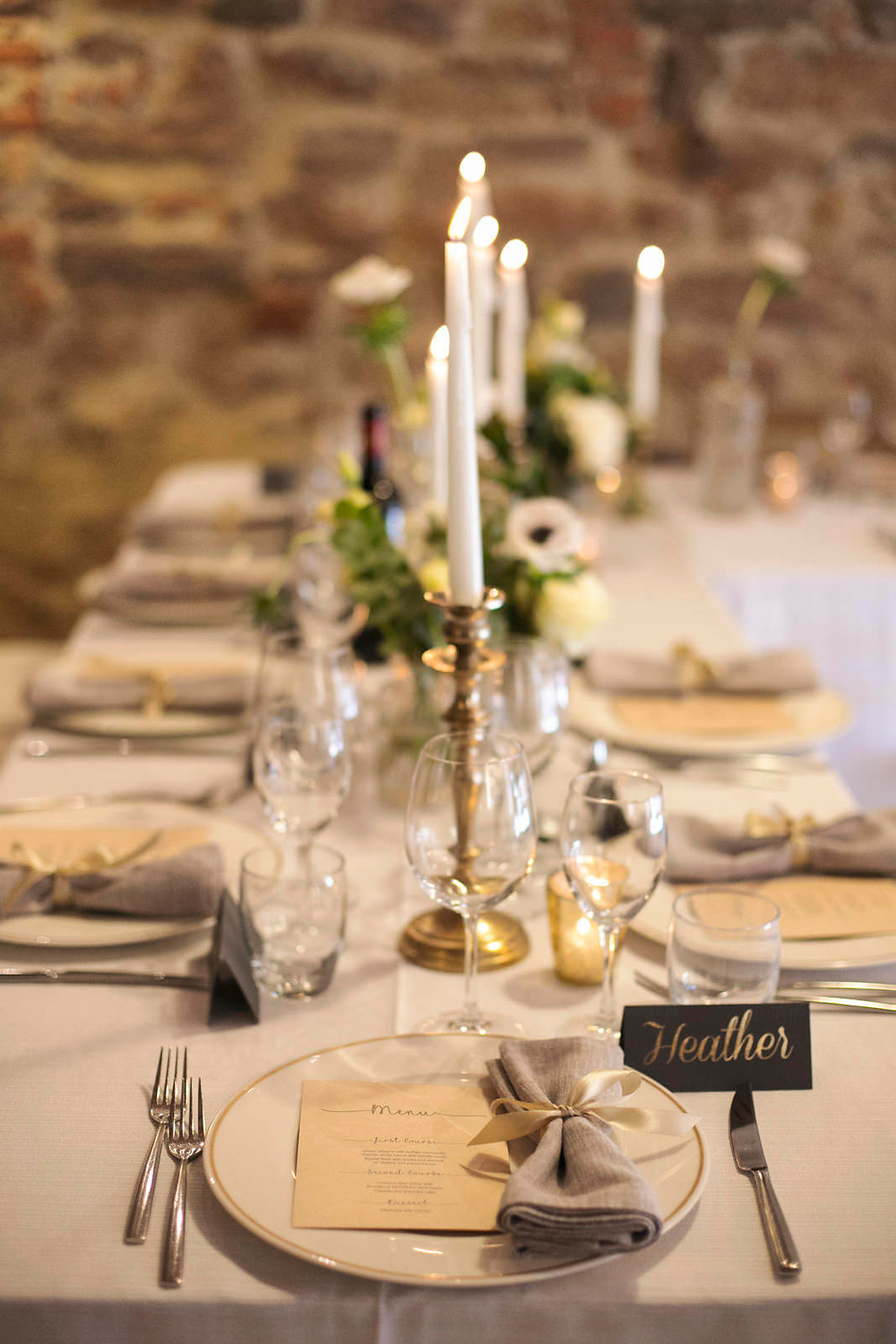 Gold And Gray Place Cards | Our Italian Fairytale