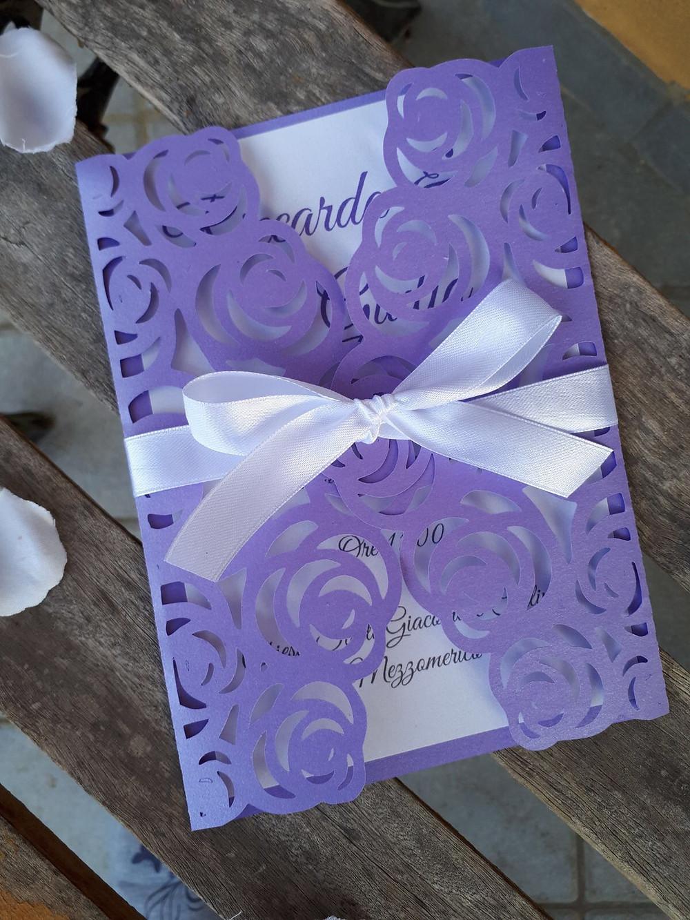 Violet Wedding Invitation | Our Italian Fairytale | Cinzia Wedding and Event Designer