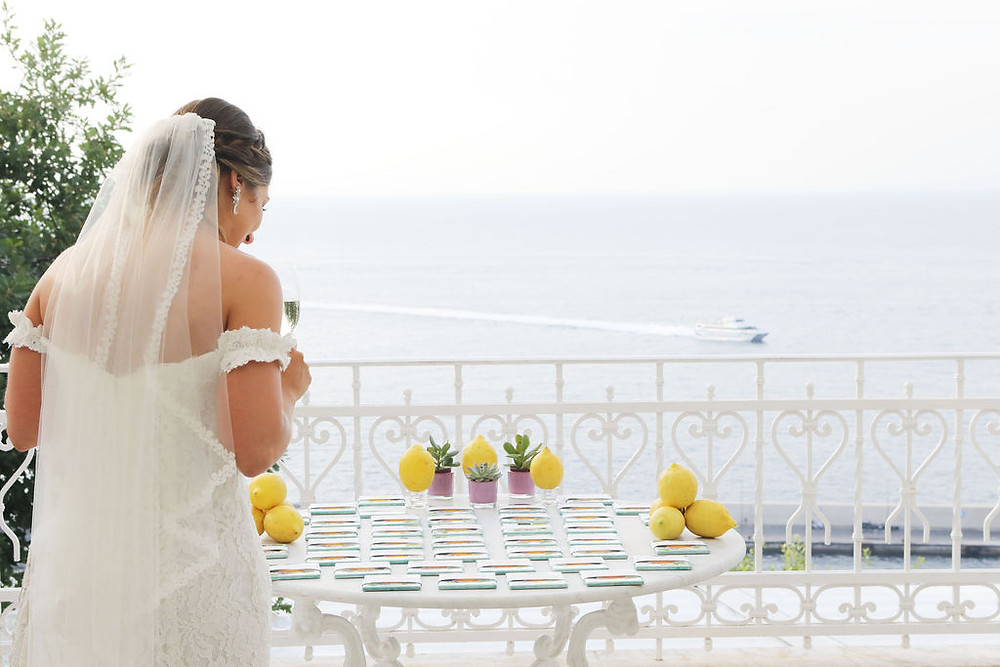 Amalfi Coast escort cards Our Italian Fairytale | Best Amalfi Coast Destination Wedding Planner