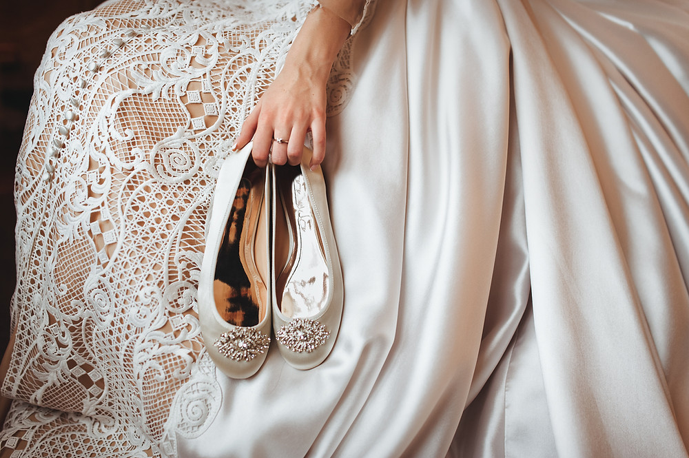 Elegant Flat Wedding Shoes