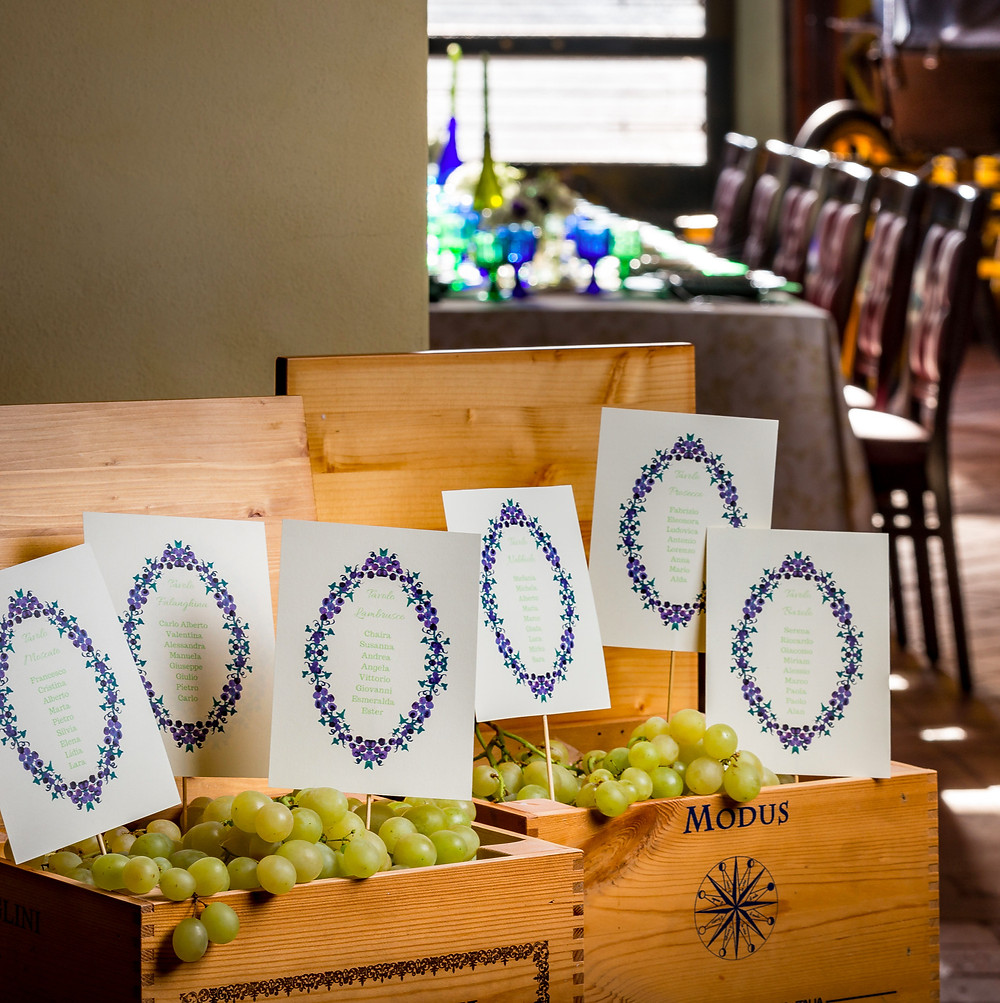 Grapes Seating Chart | Our Italian Fairytale