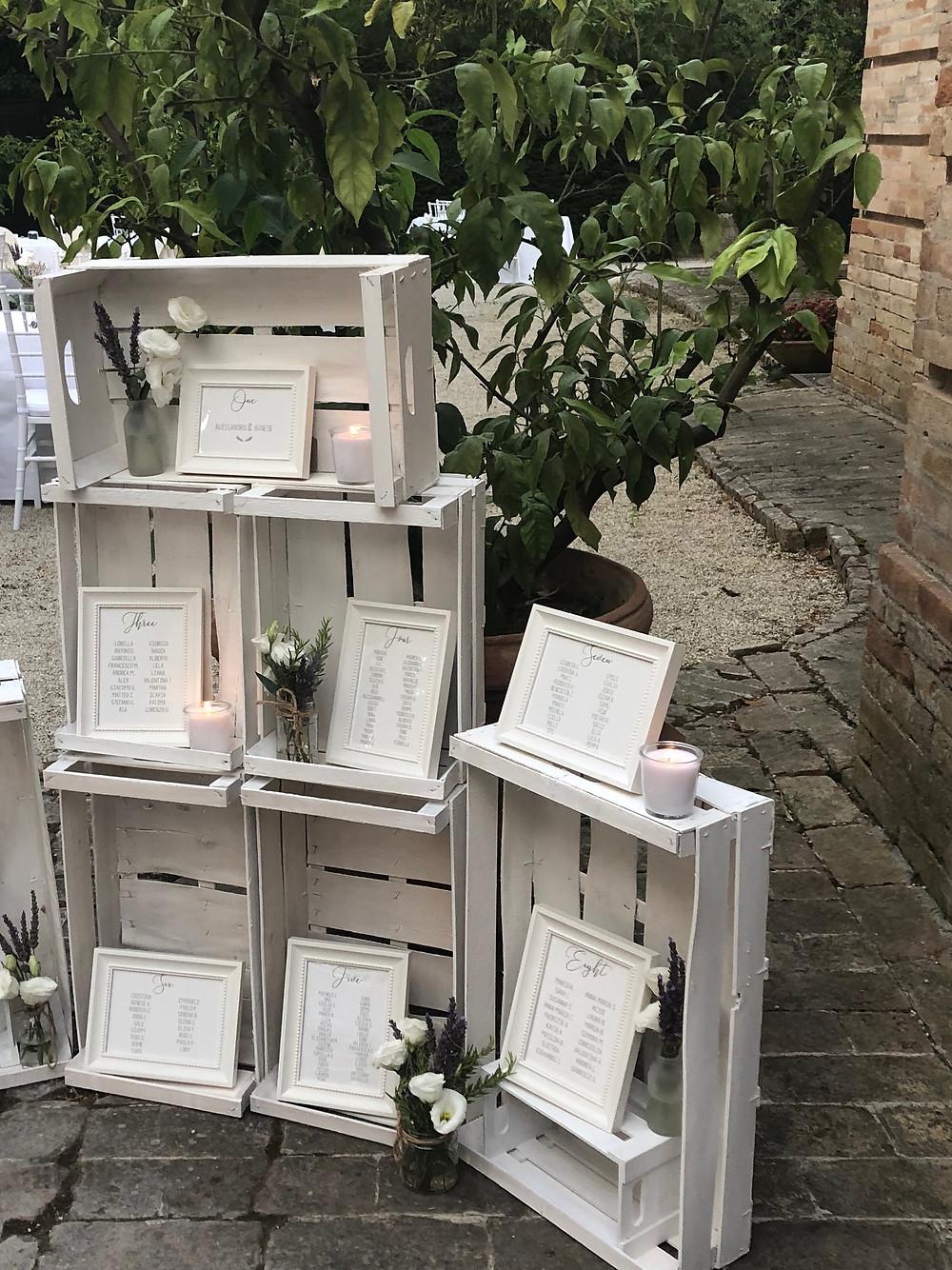 Rustic Charm Wedding Table Plan   Our Italian Fairytale