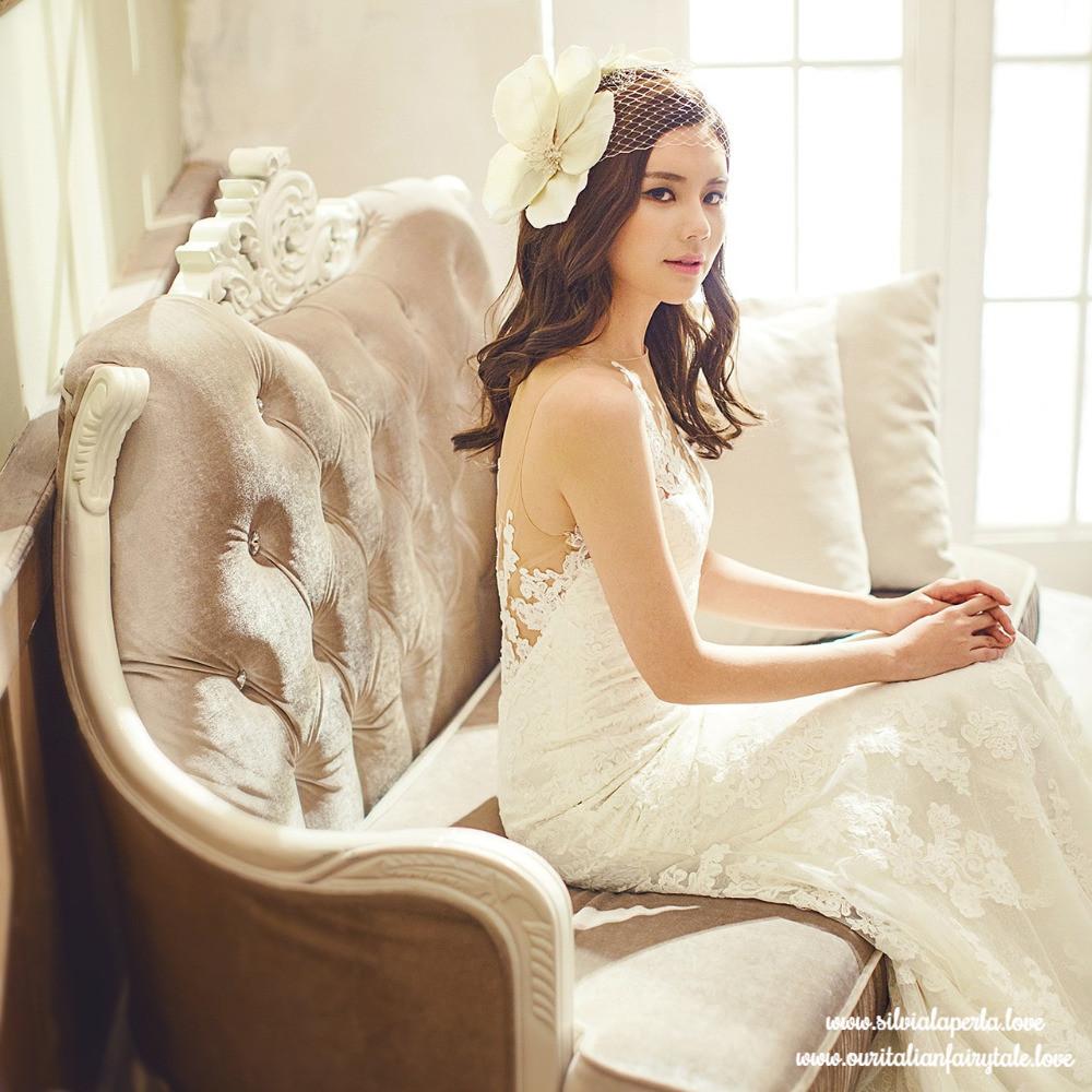 Silvia La Perla | Bride With Hat | Our Italian Fairytale