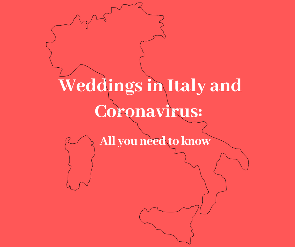 Coronavirus and Wedding in Italy Map | Our Italian Fairytale
