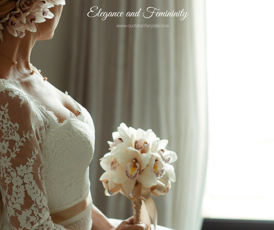 Elegant Orchid Bouquet - Our Italian Fairytale - Best Wedding Planner For Italy
