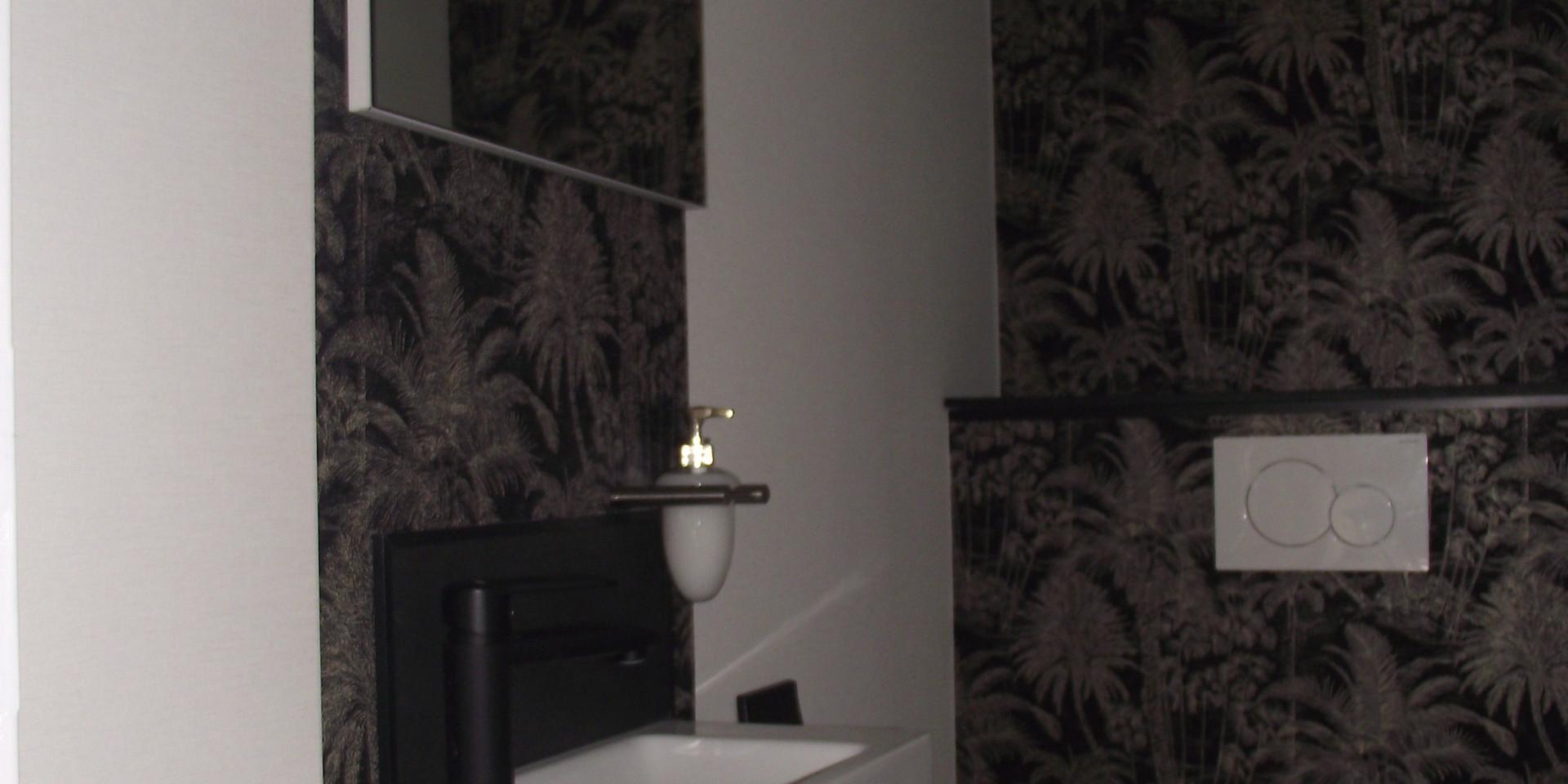 WC suspendu et lave main
