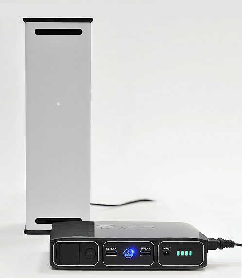 Boski UV-C Rapid Air Sanitizer (White) + External Battery