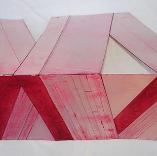 desenho sobre matriz de tetrapack entintada