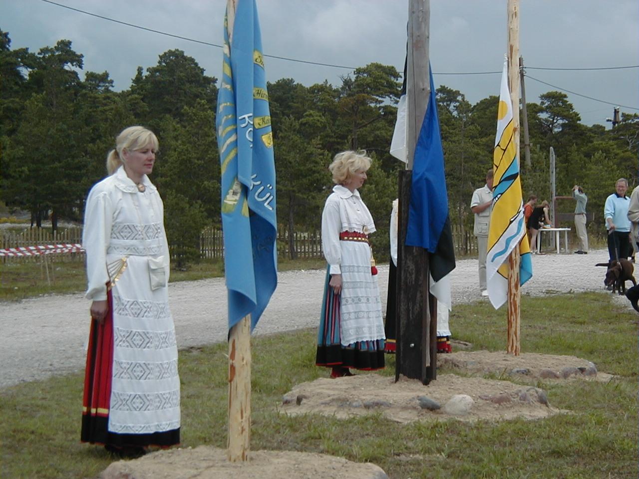 Lippude heiskamine Kalanas.JPG