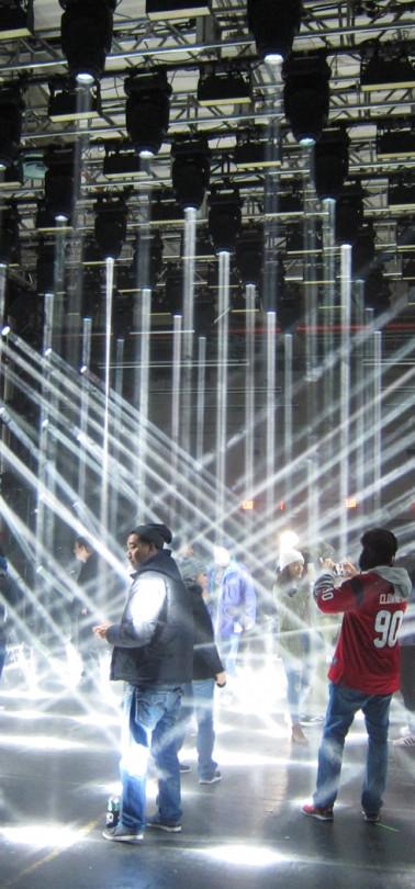 Interactive lighting exhibit