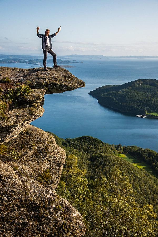 Norwegen Wanderer, Freiheit, Drohne