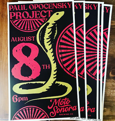 Paul Opocensky Project - August 8th, 2020 Show Poster