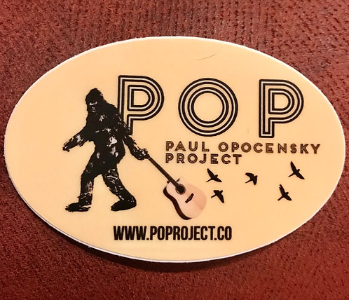 "Paul Opocensky Project - ""POP-a-Squatch"" Sticker"