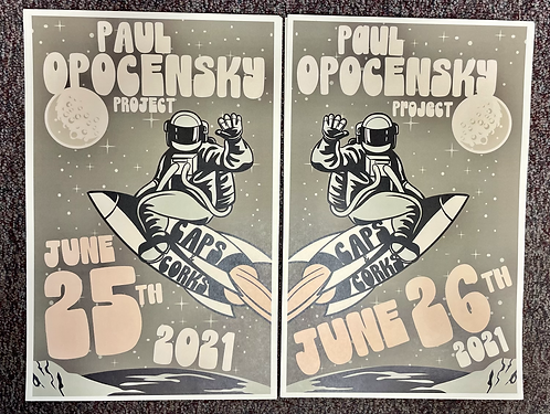 Limited Edition Signed Matched Set of Posters - Caps & Corks 6/25 & 6/26