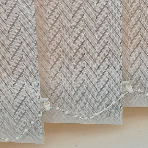 Everest White 89mm Replacement blind slat