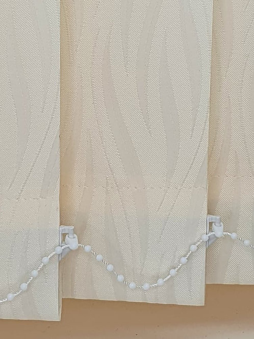 Legacy Ivory 89mm vertical blind replacement slats