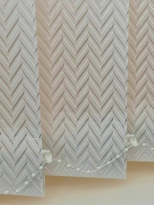 Everest Cream vertical 89mm replacement window blind slat