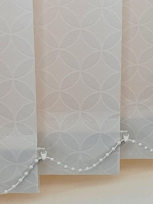 White Diamond 89mm replacement blind slat