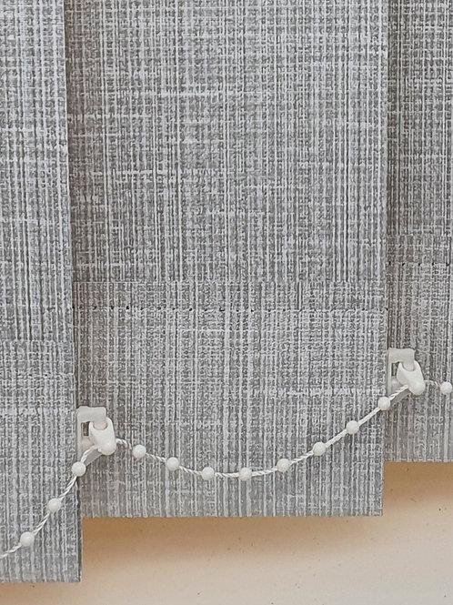 Milano white PVC vertical 89mm