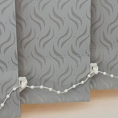 Gravity Grey PVC Vertical 89mm replacement blind slat