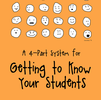 A 4-Part System for Getting to know your students