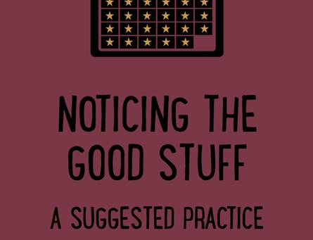Noticing the good stuff