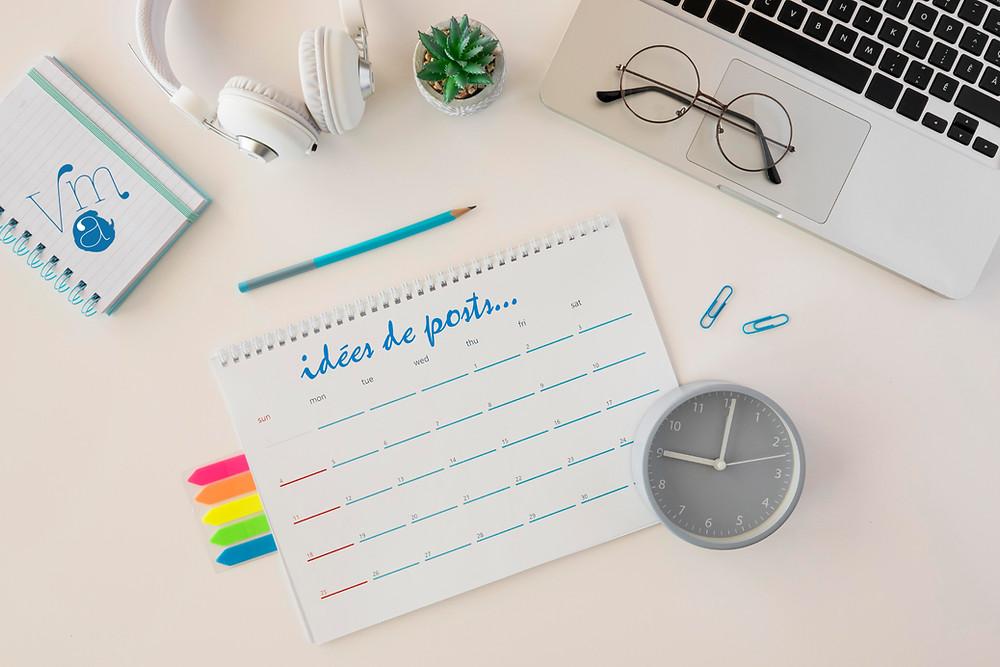 Le calendrier éditorial selon VMA Stratégie et communication. Calendrier pour publier sur les réseaux sociaux