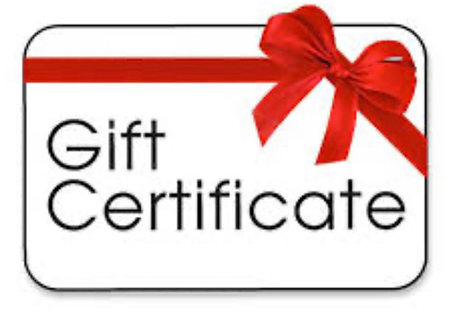 Virtual camp gift certificate