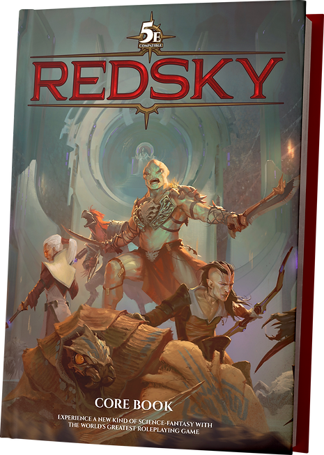 Depiction of the Redsky RPG core book